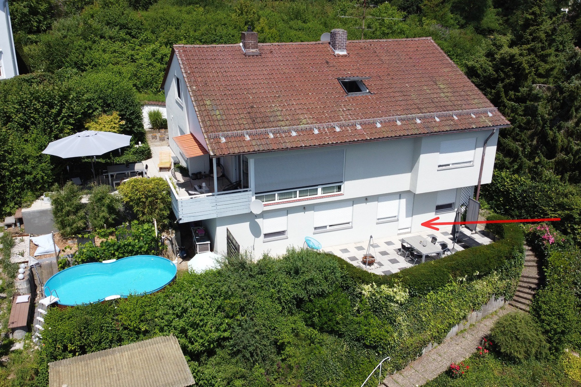 air foto of the holiday home